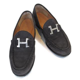 HERMES 〈エルメス〉 Constance loafers flat shoes #35.5