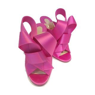 Christian louboutin〈クリスチャン・ルブタン〉Sandals heels Ribbon