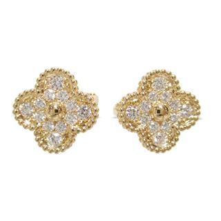 Van Cleef & Arpels〈ヴァンクリーフ&アーペル〉Vintage Alhambra diamond earrings