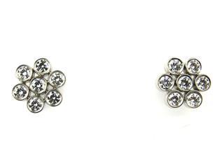 TIFFANY&CO〈ティファニー〉Garden Flower Diamond Earrings