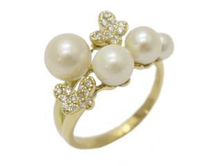 Ponte Vecchio 〈ポンテヴェキオ〉 Butterfly Pearl Diamond Ring