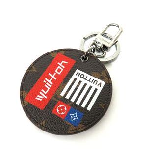 LOUIS VUITTON〈ルイヴィトン〉Porte-cle Aound Monogram Logo Key ring Bag Charm
