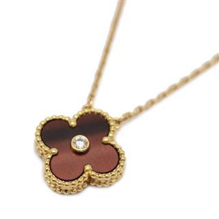 Van Cleef & Arpels〈ヴァンクリーフ&アーペル〉Vintage Alhambra Bullseye 1P Diamond Necklace 2017 Xmas