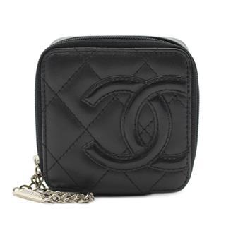 CHANEL〈シャネル〉Cambon line cosmetic pouch zip around square