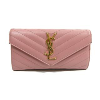YVES SAINT LAURENT 〈イブ・サンローラン〉 Small Monogram Envelope ZIP long wallet