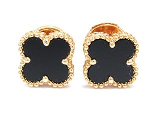 Van Cleef & Arpels 〈ヴァンクリーフ&アーペル〉 Sweet Alhambra Pierced Earrings