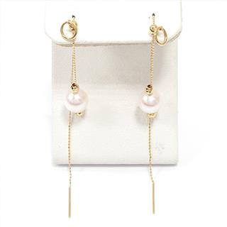JEWELRY 〈ジュエリー〉 Pearl pieced earrings long chain