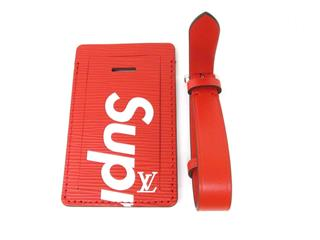 LOUIS VUITTON〈ルイヴィトン〉Luggage Name Tags Bag Red Limited Edition Supreme