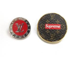 LOUIS VUITTON〈ルイヴィトン〉Broche Set Badge Pin Set SP Limited Edition Supreme