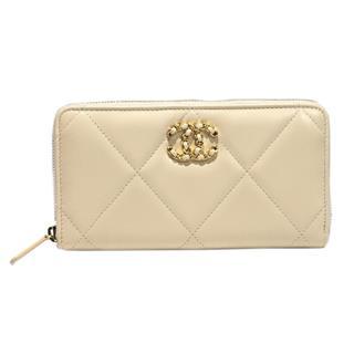 CHANEL〈シャネル〉19 long zip wallet round zipper wallet