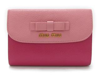 miu miu〈ミュウミュウ〉Three fold wallet