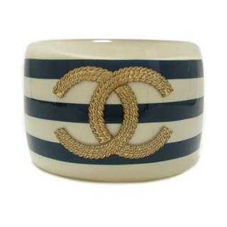 CHANEL 〈シャネル〉 Coco Marine Marine Border Wide Bangle 10C