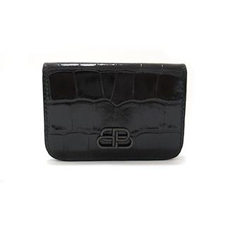 BALENCIAGA 〈バレンシアガ〉 BB tri-fold compact wallet purse
