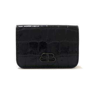 BALENCIAGA 〈バレンシアガ〉 BB mini tri-fold wallet Purse