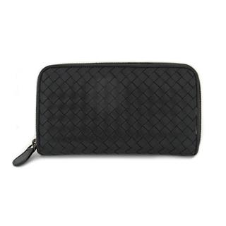 BOTTEGA VENETA 〈ボッテガ・ヴェネタ〉 Intrecciato around zipper long wallet Purse