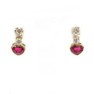 JEWELRY〈ジュエリー〉Ruby diamond earrings