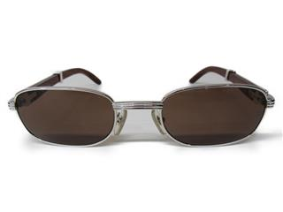Cartier 〈カルティエ〉 Wood temple sunglasses 140b