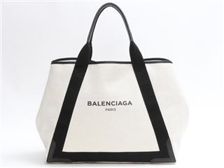 BALENCIAGA 〈バレンシアガ〉 Navy Cabas with pouch Hand Tote Bag
