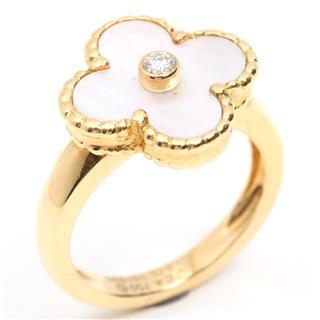 Van Cleef & Arpels〈ヴァンクリーフ&アーペル〉Alhambra White Shell Ring