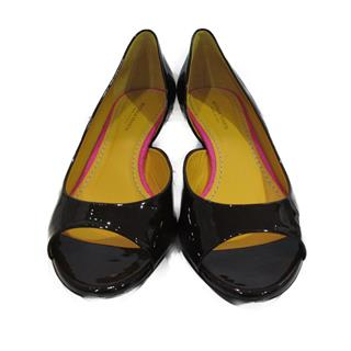 BOTTEGA VENETA 〈ボッテガ・ヴェネタ〉 open-toe pumps heels #36.5