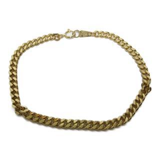 JEWELRY〈ジュエリー〉Double 2 size Flat link chain S Bracelet