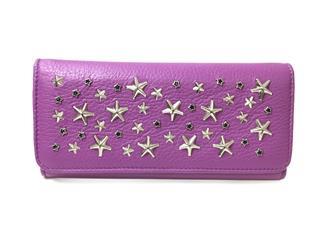 JIMMY CHOO〈ジミーチュウ〉Studded ZIP Long wallet